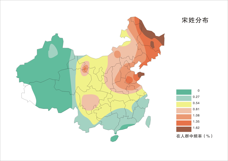 在全国的分布主要集中于山东