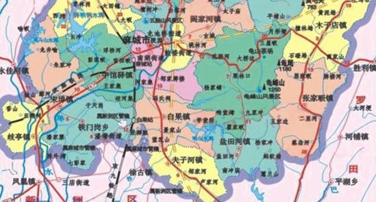 麻城市道路地图